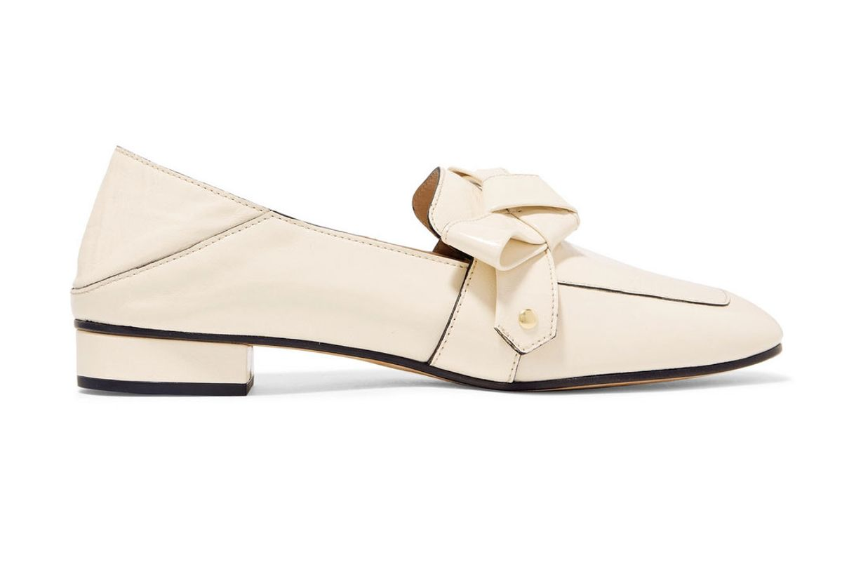 chloe quincey collapsible heel leather loafers