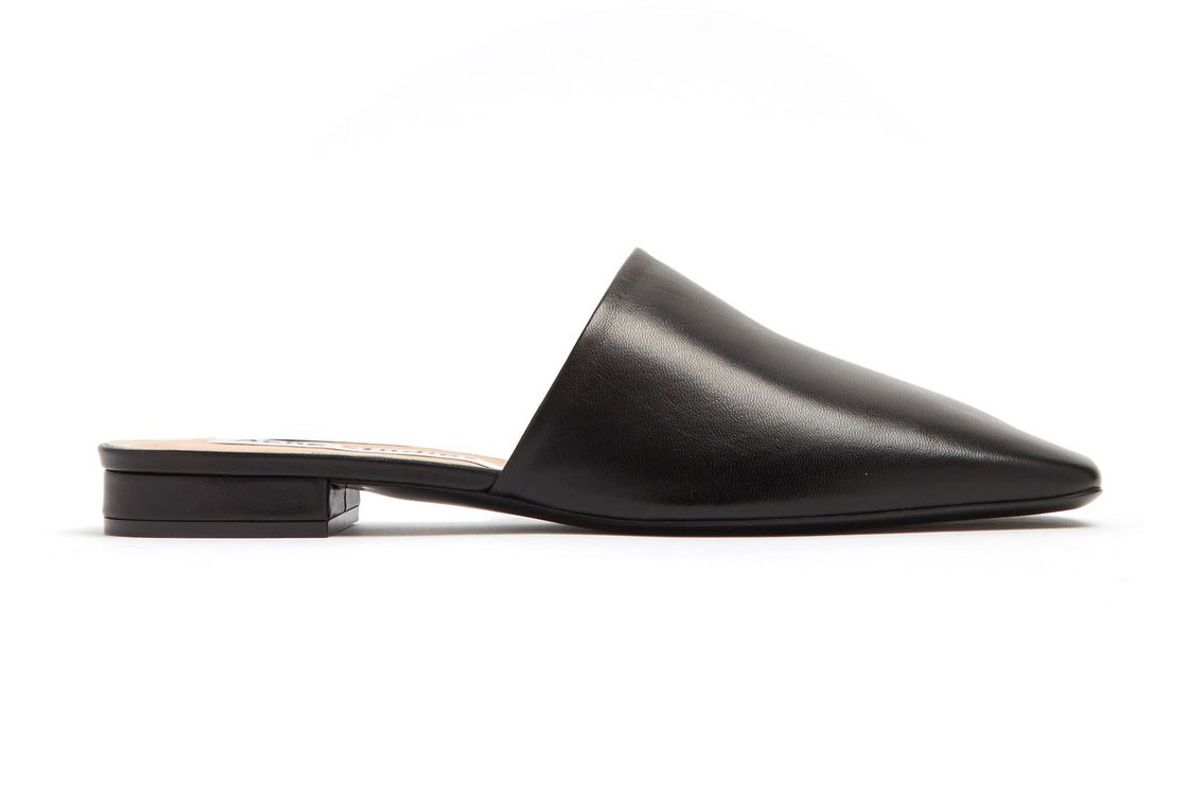 acne studios tessey leather backless loafers
