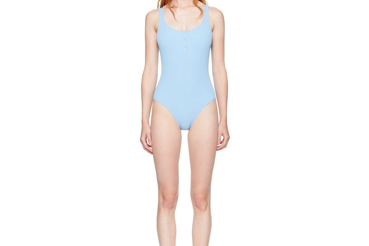 Blue STAUD Edition The Veronica Swimsuit