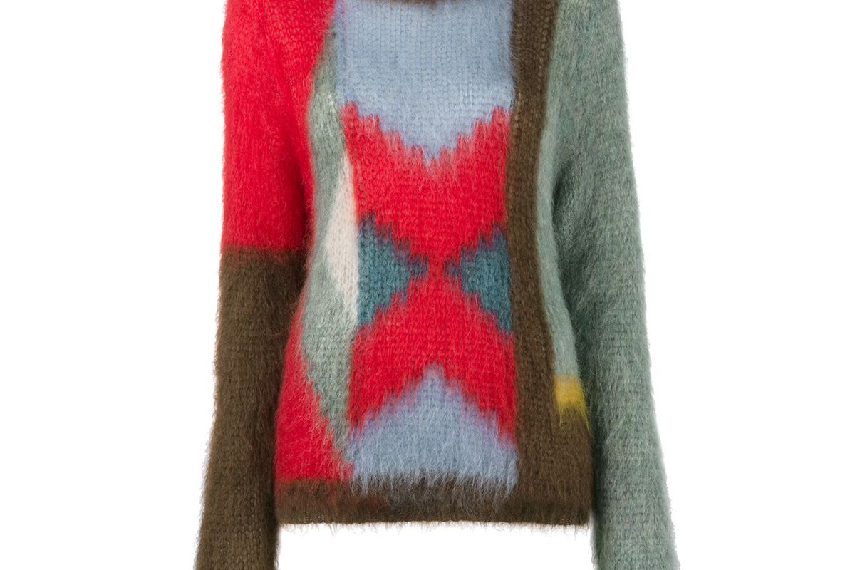 Colour Blocked Knitted Jumper