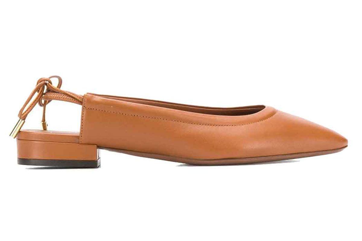 lautre chose backless flat ballerina shoes