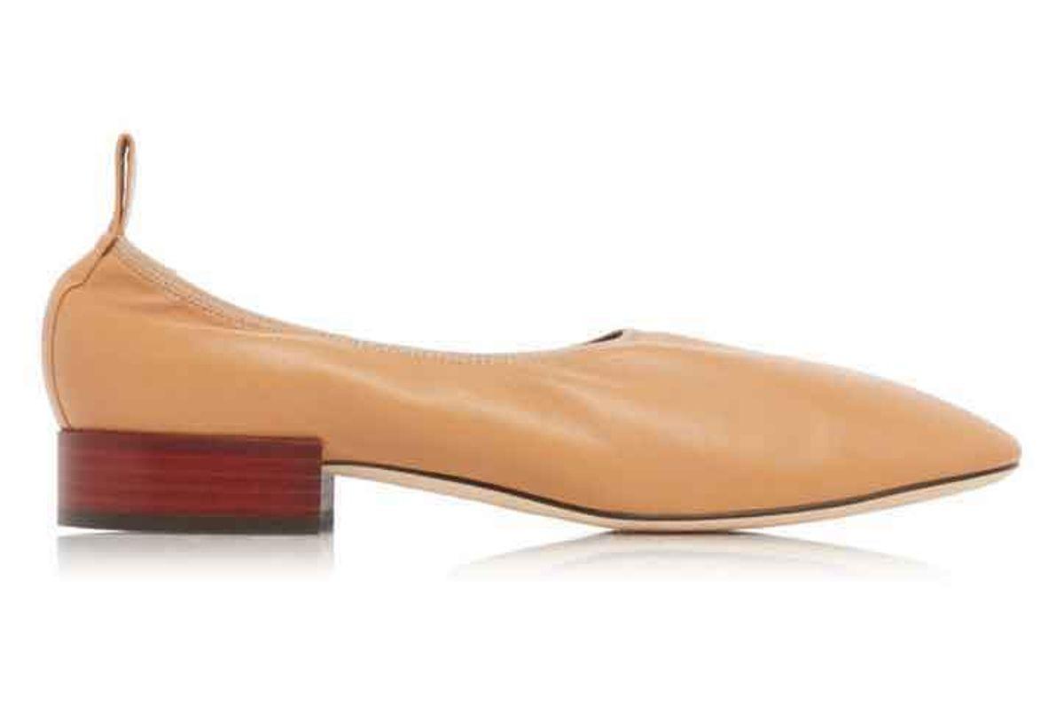 loewe soft leather ballerina flats