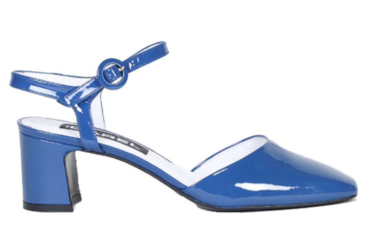 carel soraya blue patent leather sandals