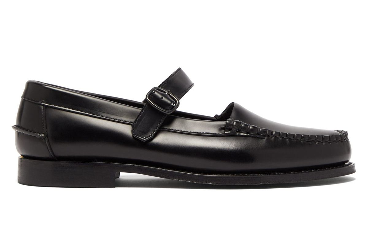 hereu blanquer mary jane leather loafers