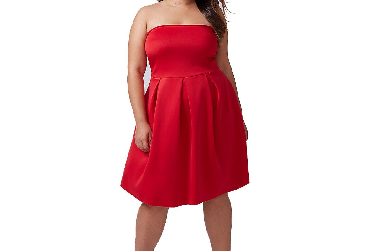Strapless Fit & Flare Dress