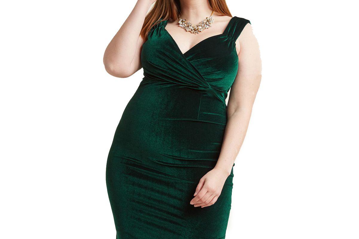 Lady Love Song Velvet Dress in Emerald