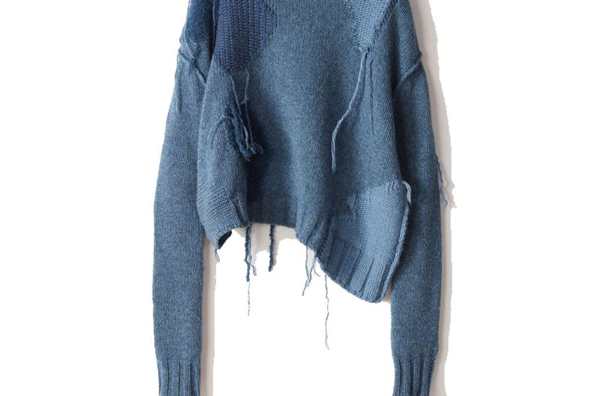 Ovira Patch Blue Combo Sweater