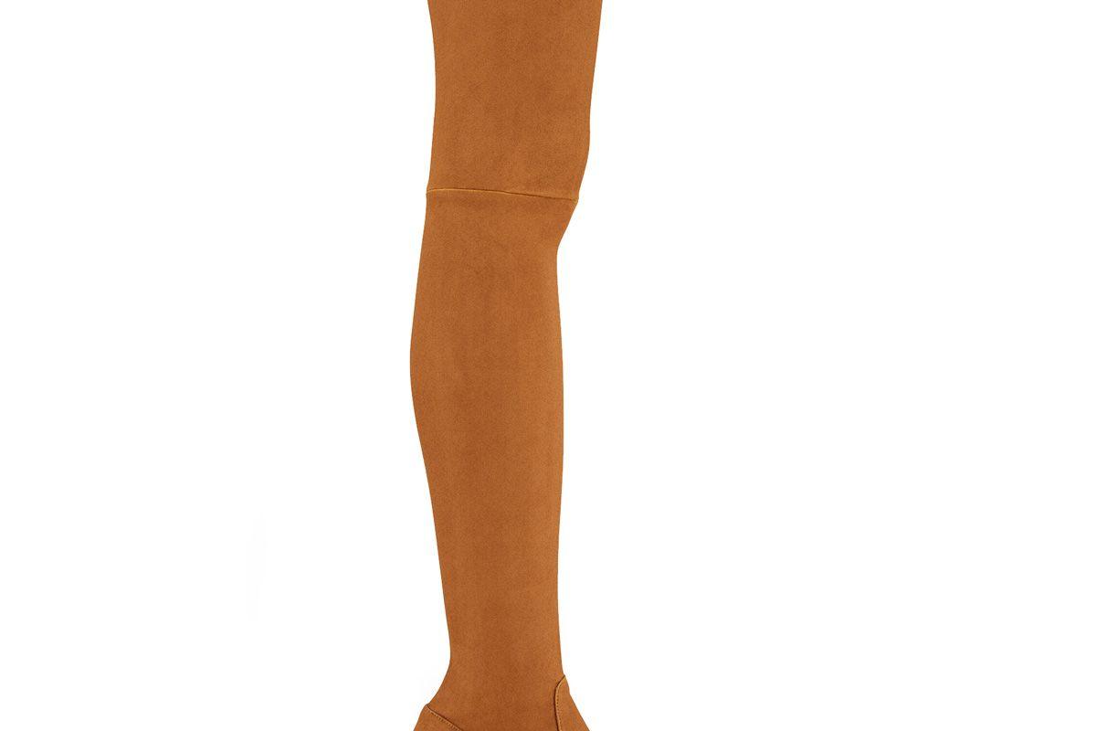 Fuisy Flat Suede Calfskin Thigh Boots