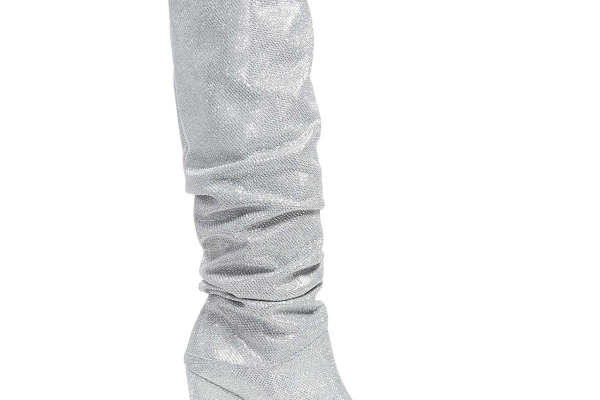 Smashing Scrunched Metallic Tall Boots