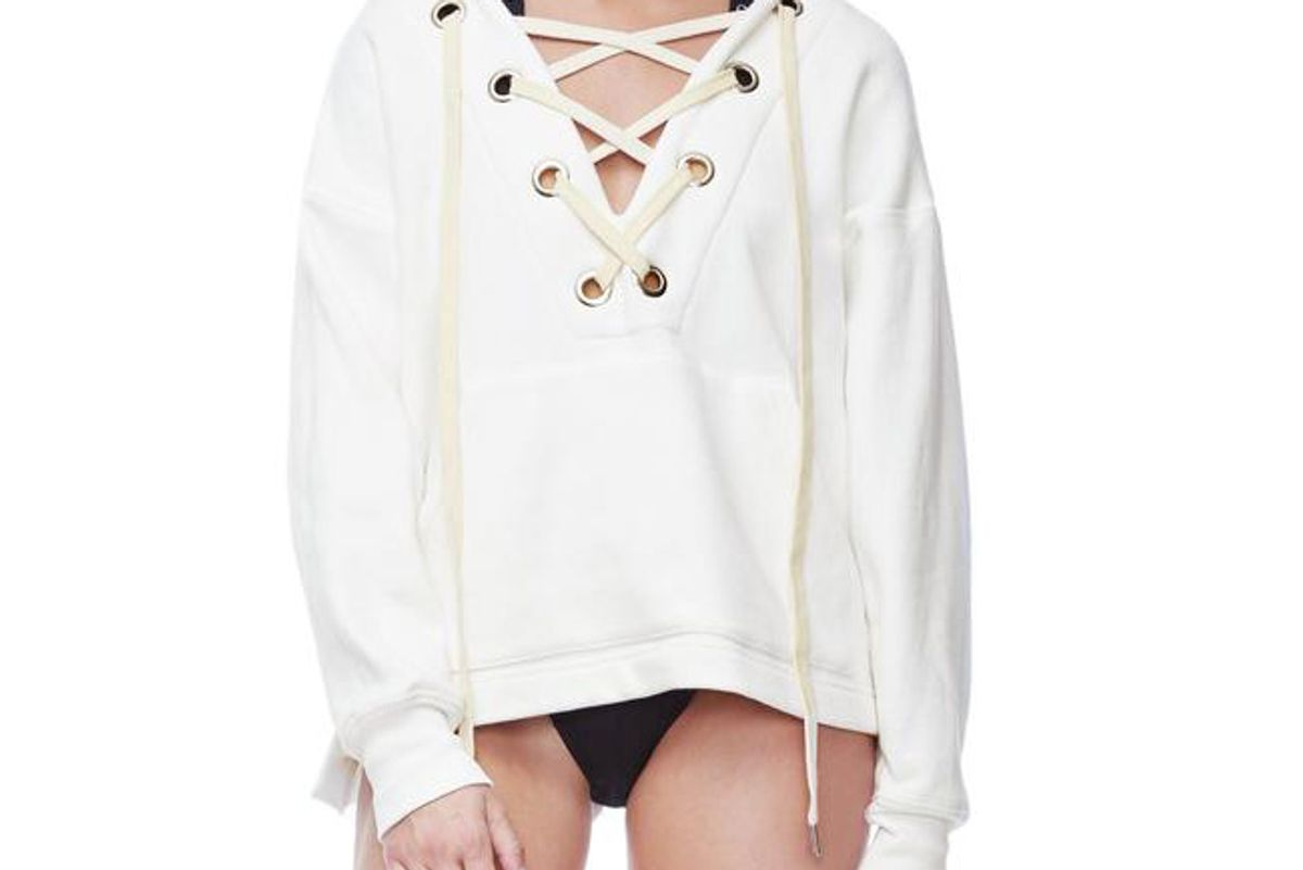 Th Lace Up Hoodie