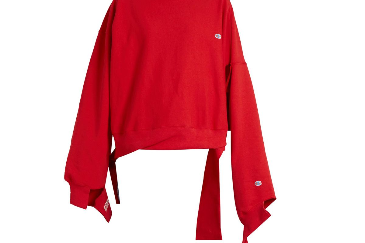 X Champion Oversized Cotton-Blend Sweatshirt