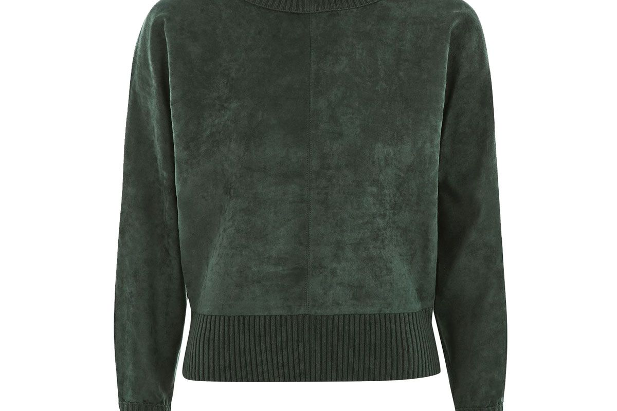 Suede Front Batwing Jumper