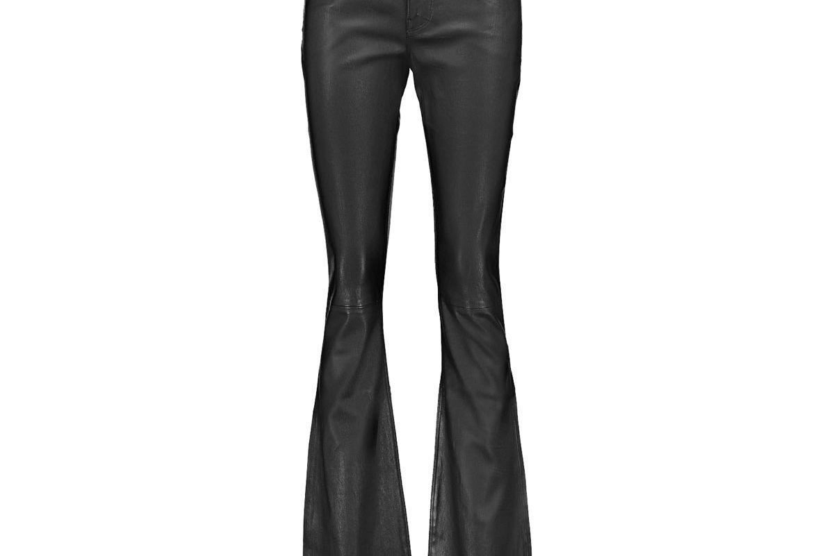 Jackson Leather Bootcut Pants
