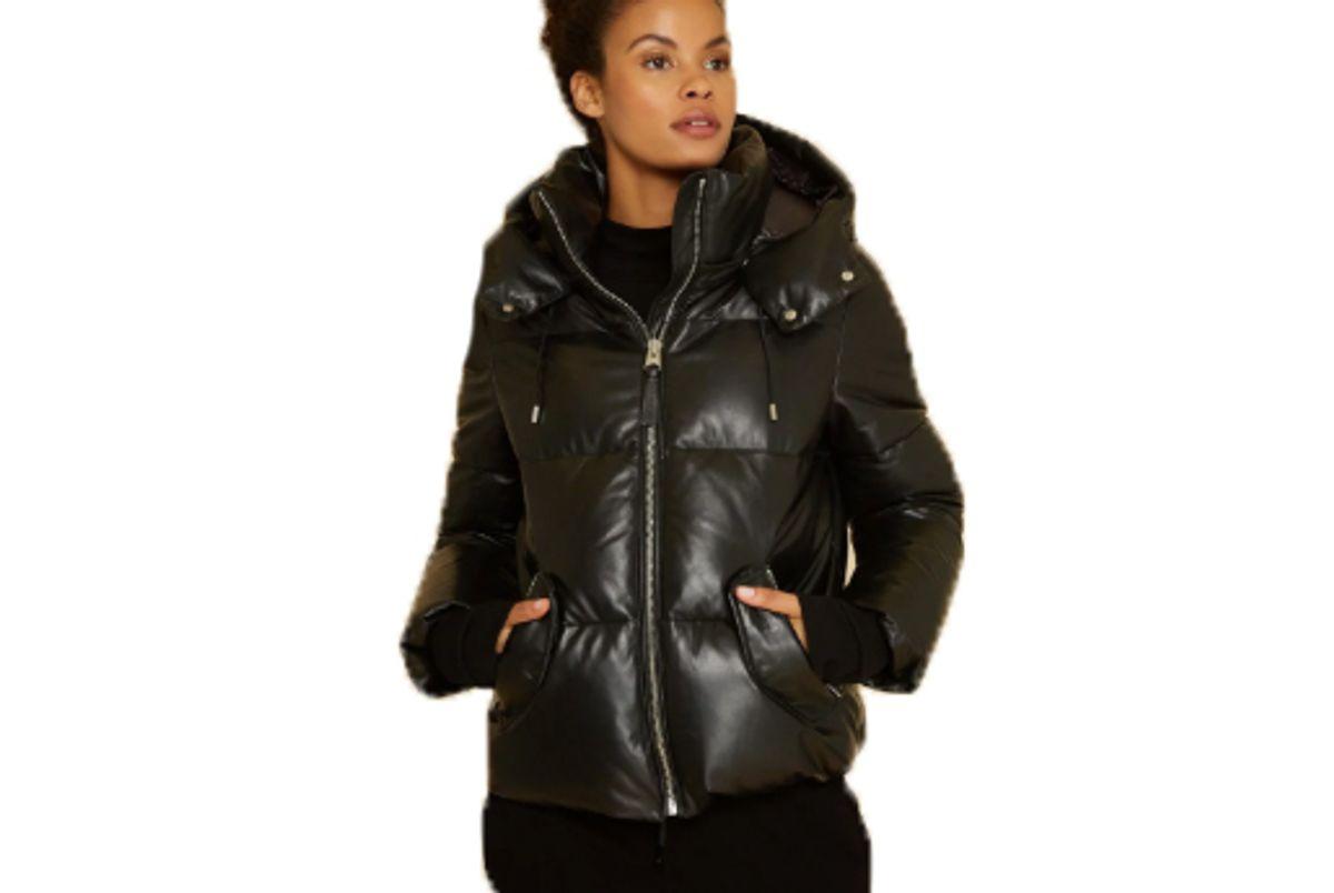 mackage miley leather coat