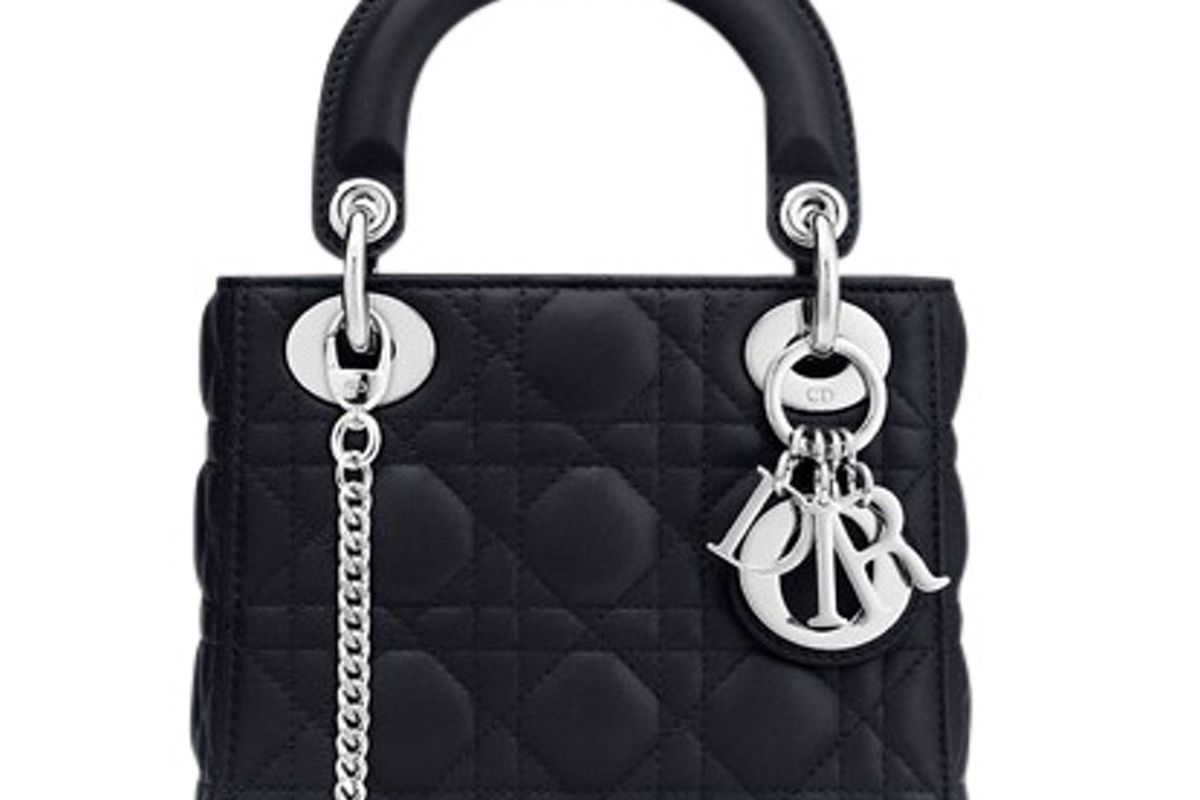 dior lady top handle lambskin mini bag