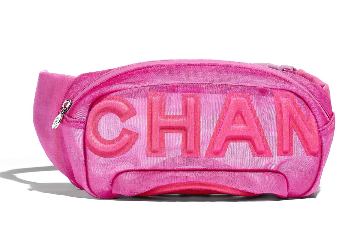 chanel nylon waist bag