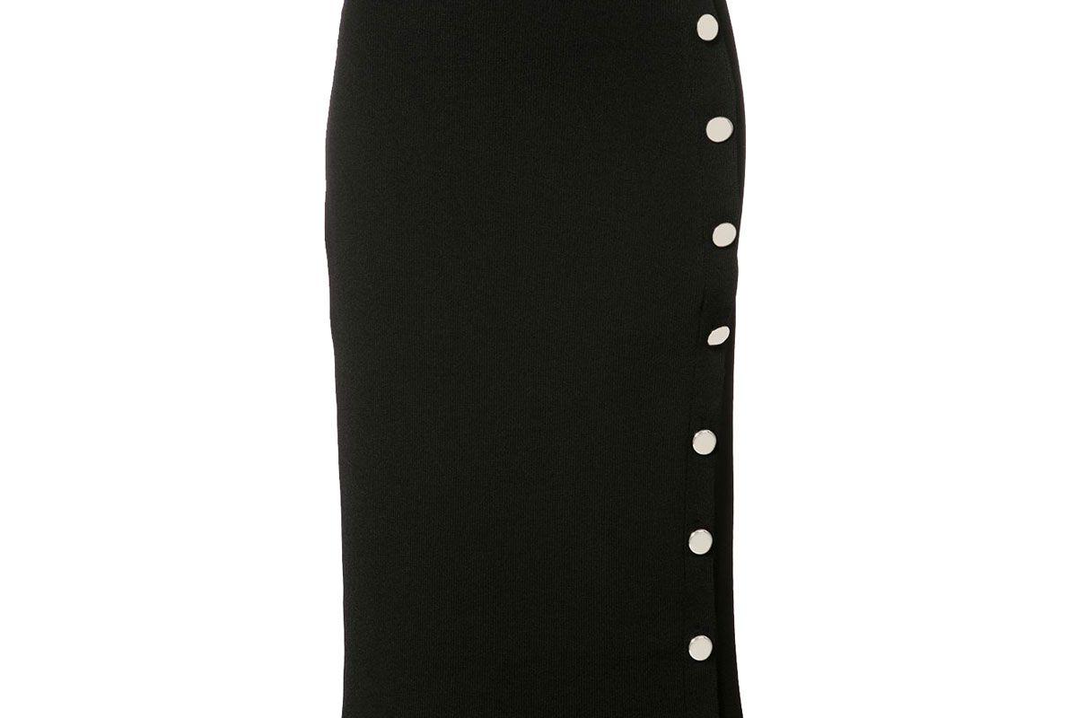 Buttoned Pencil Skirt