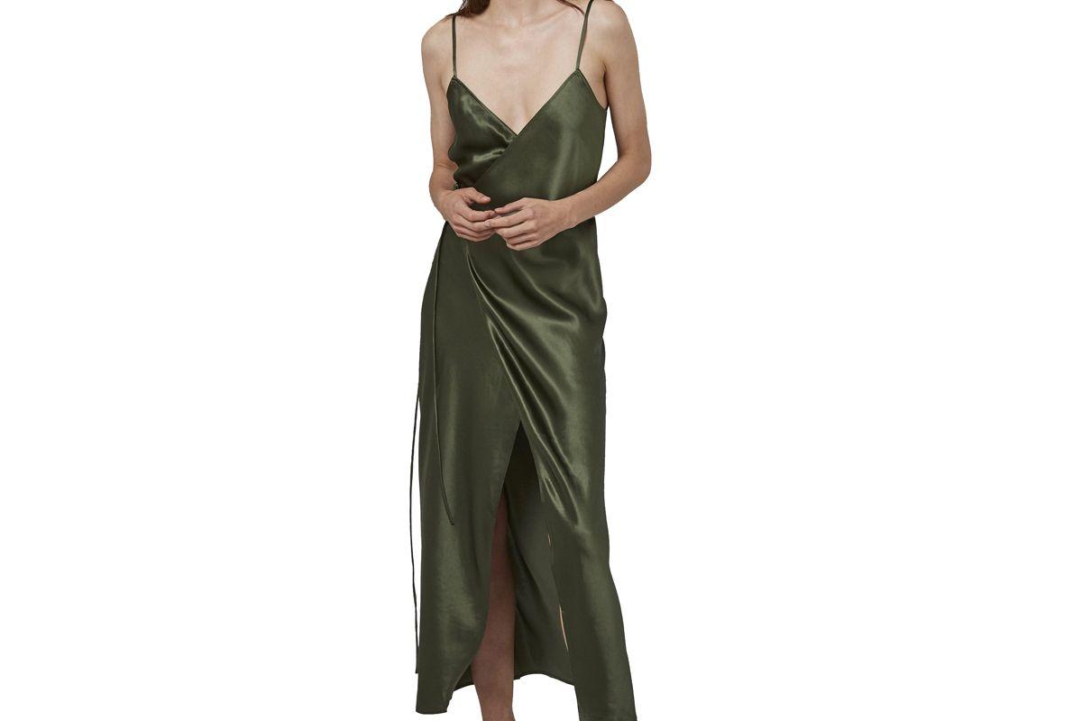 ginia bella v-neck wrap dress