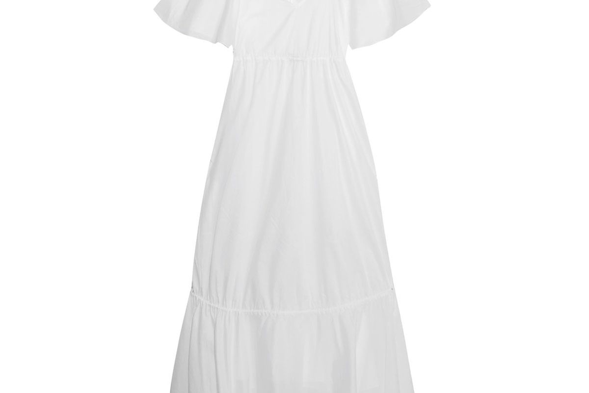 Betsy Tiered Cotton-Voile Maxi Dress