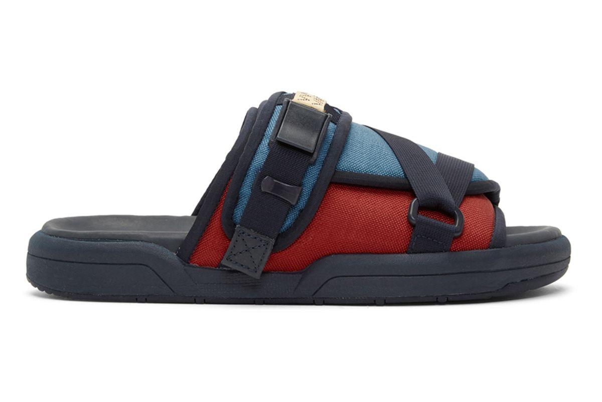 visvim blue christo two tone sandals