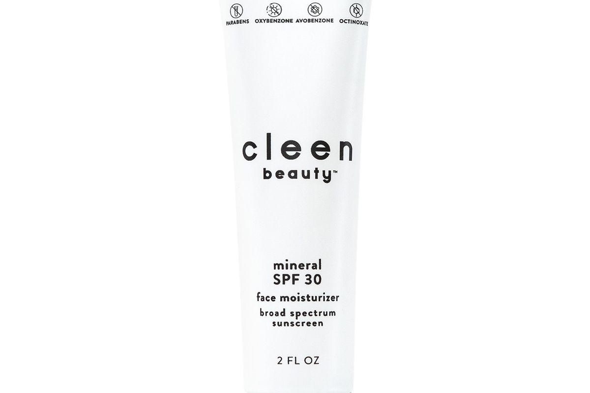 cleen beauty mineral spf 30 face moisturizer