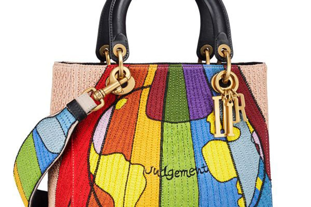 christian dior 2018 lady dior tarot handle bag