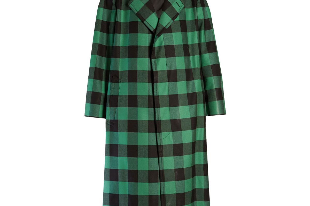 Godfather Bi-Colour Checked Oversized Coat