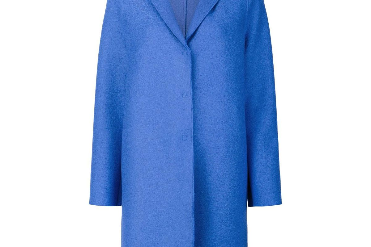 'Cocoon' Single Breasted Coat