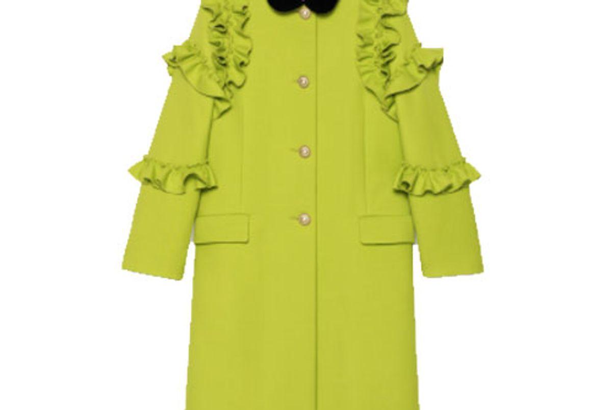 Wool Ruffle Coat