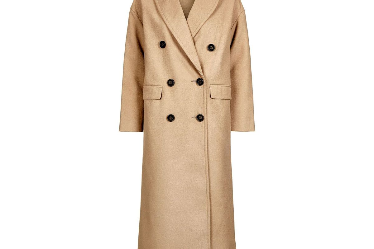 Double Breasted Slouch Coat