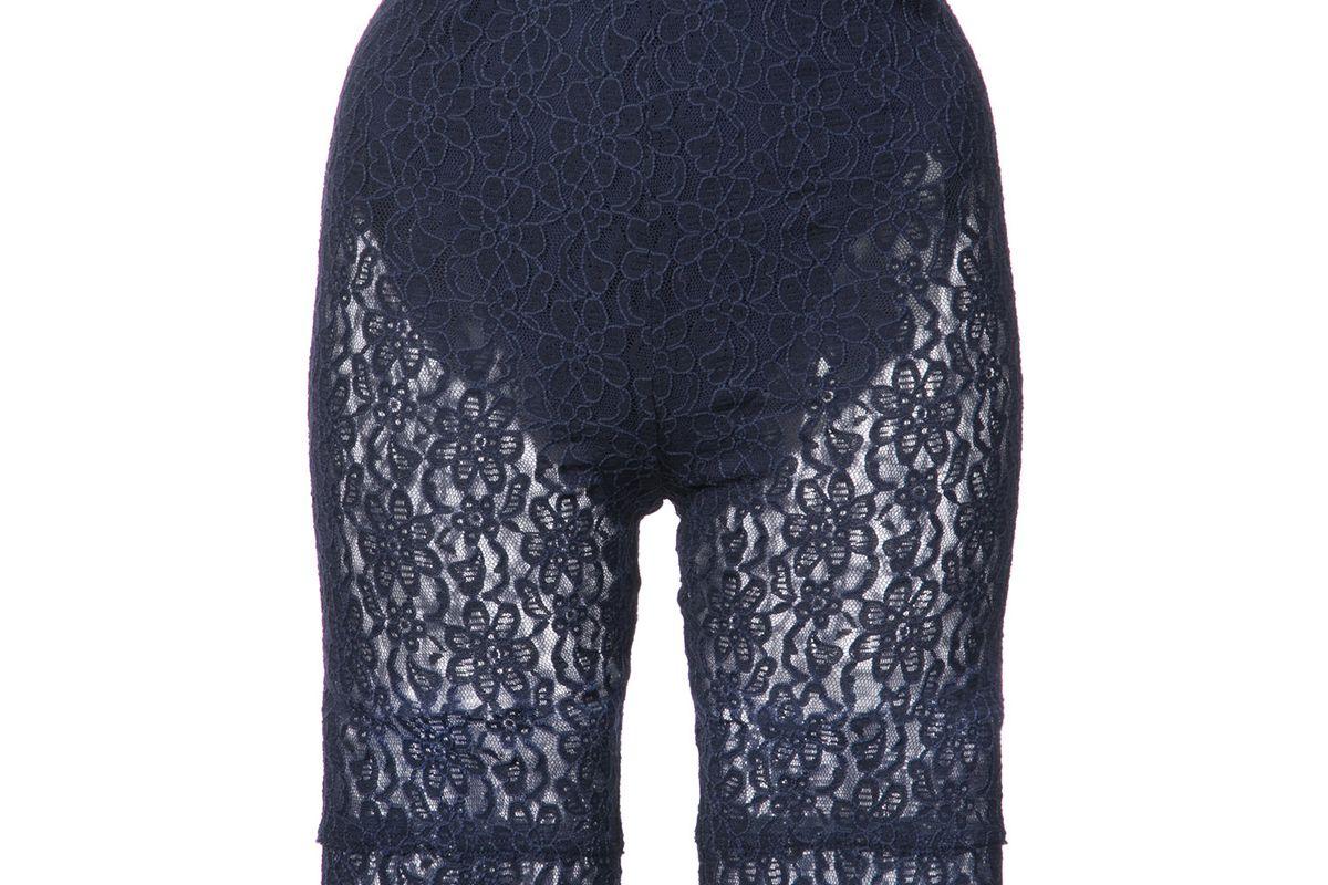 nina ricci lace fitted shorts