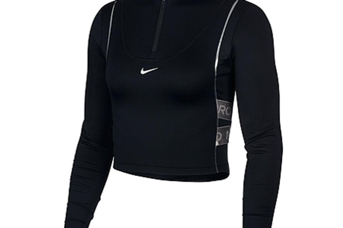 nike womens half zip long sleeve top