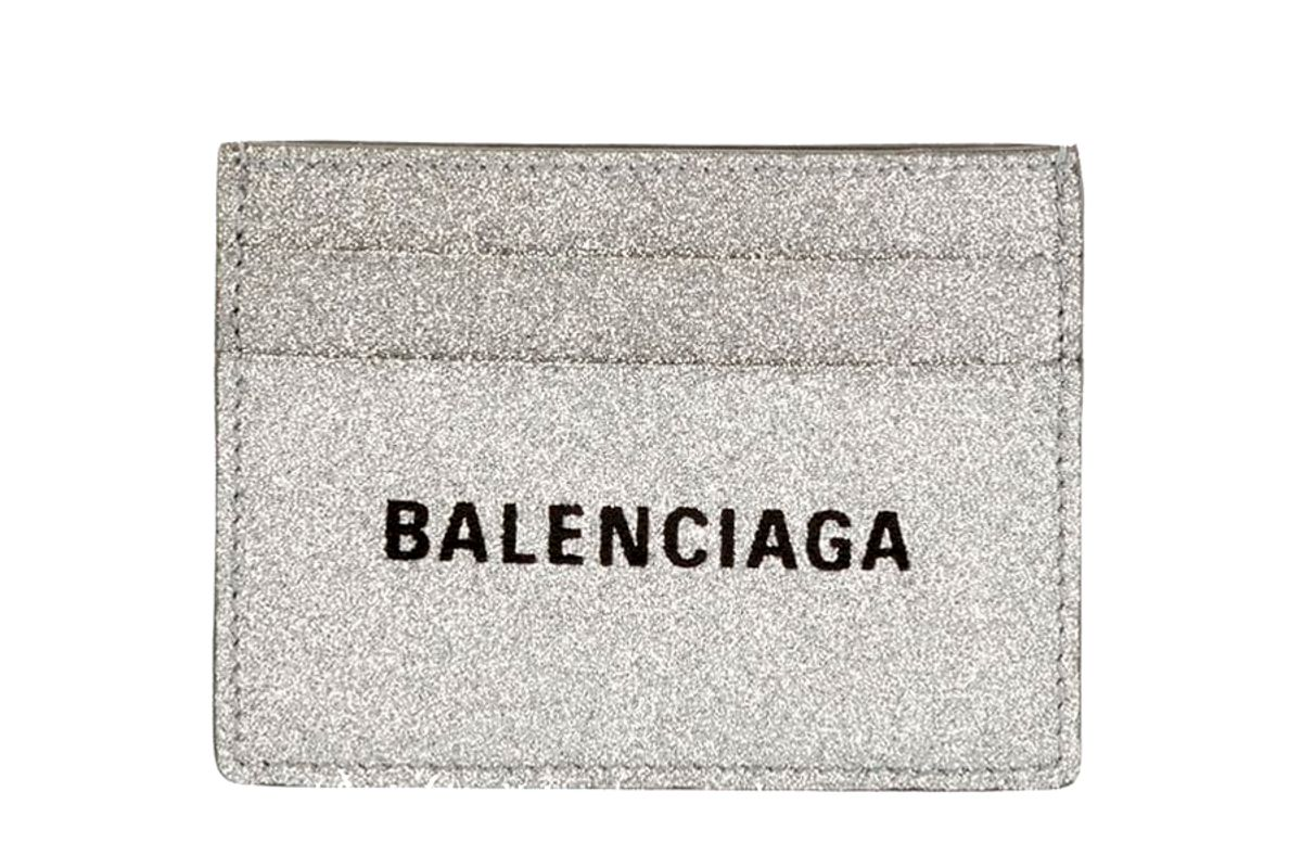 balenciaga eberyday large glitter card case