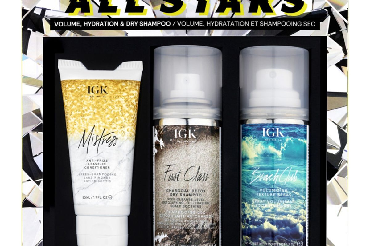 igk all stars volume hydration and dry shampoo kit