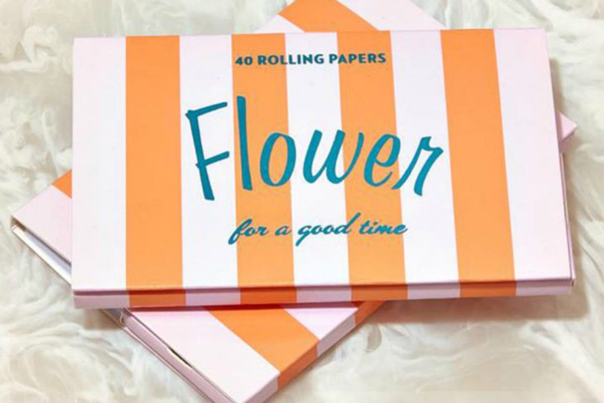 edie parker flower rolling papers in striped lavender