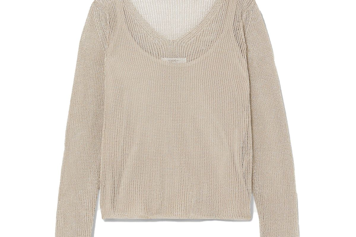 max mara layered cotton blend lurex sweater