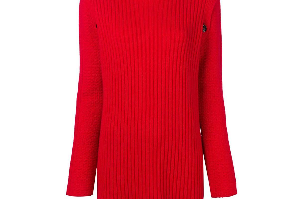marni long rip sweater