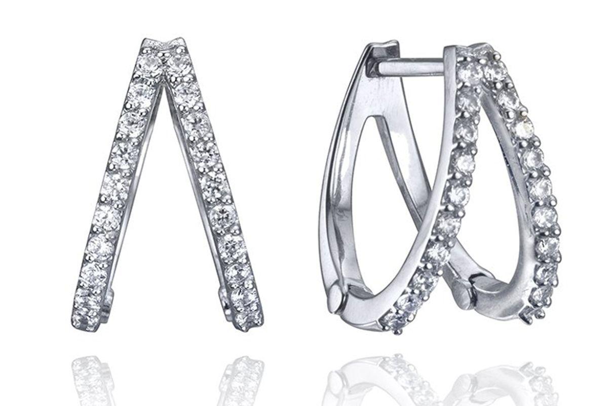 lafia jewellery diamond double huggies