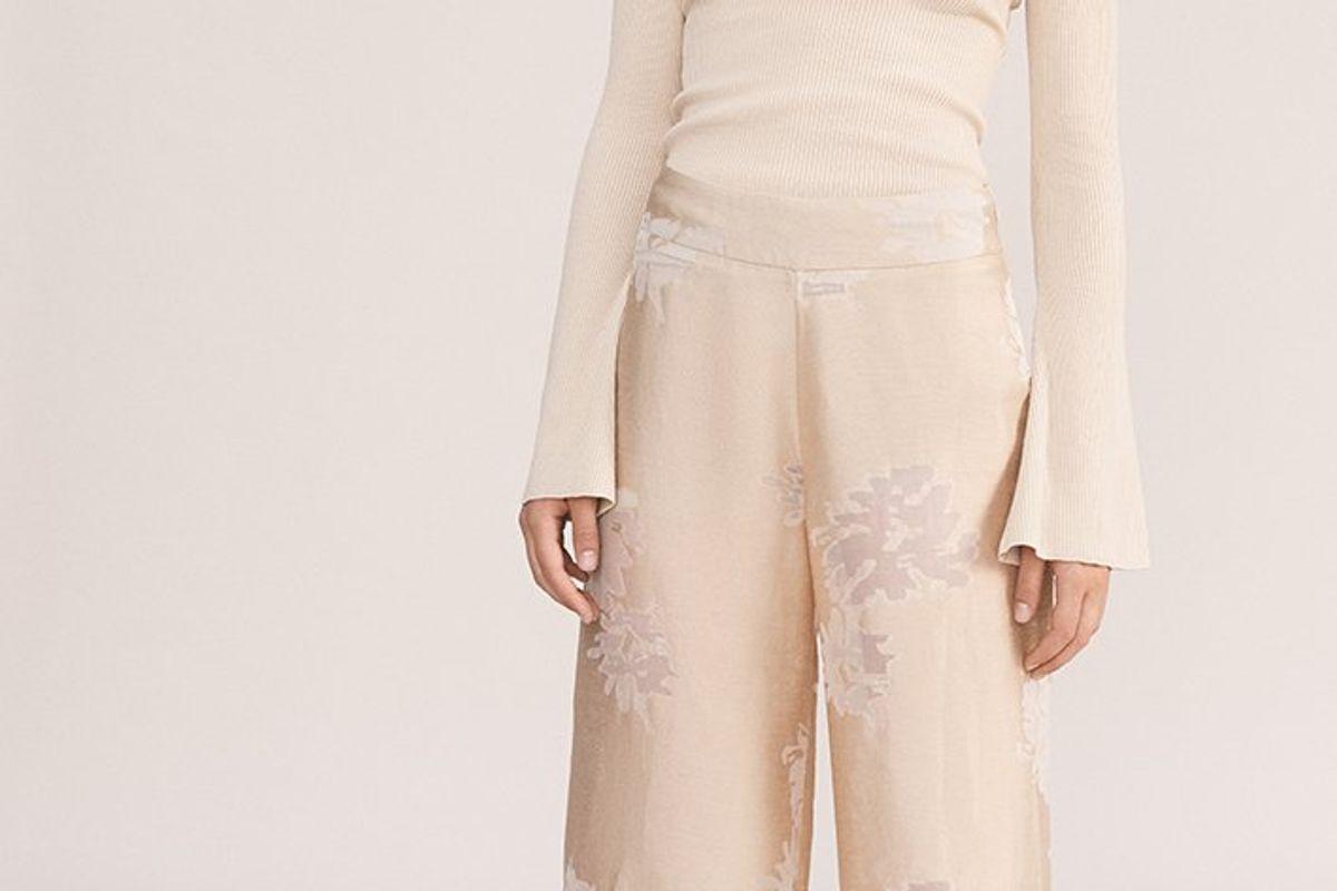 The Sierra Devore Silk Blend Pants