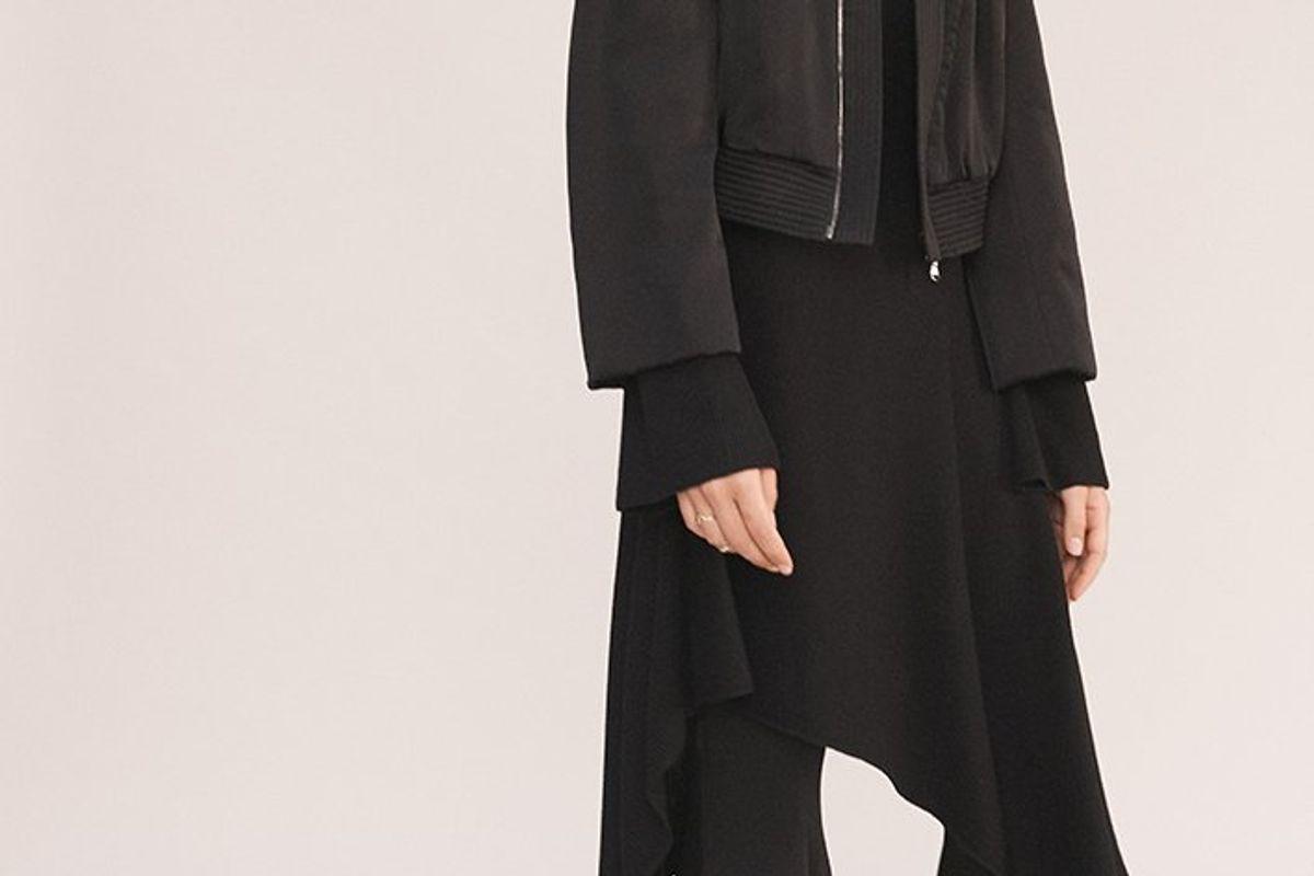 The Tess Oriental Viscose Flare Pants