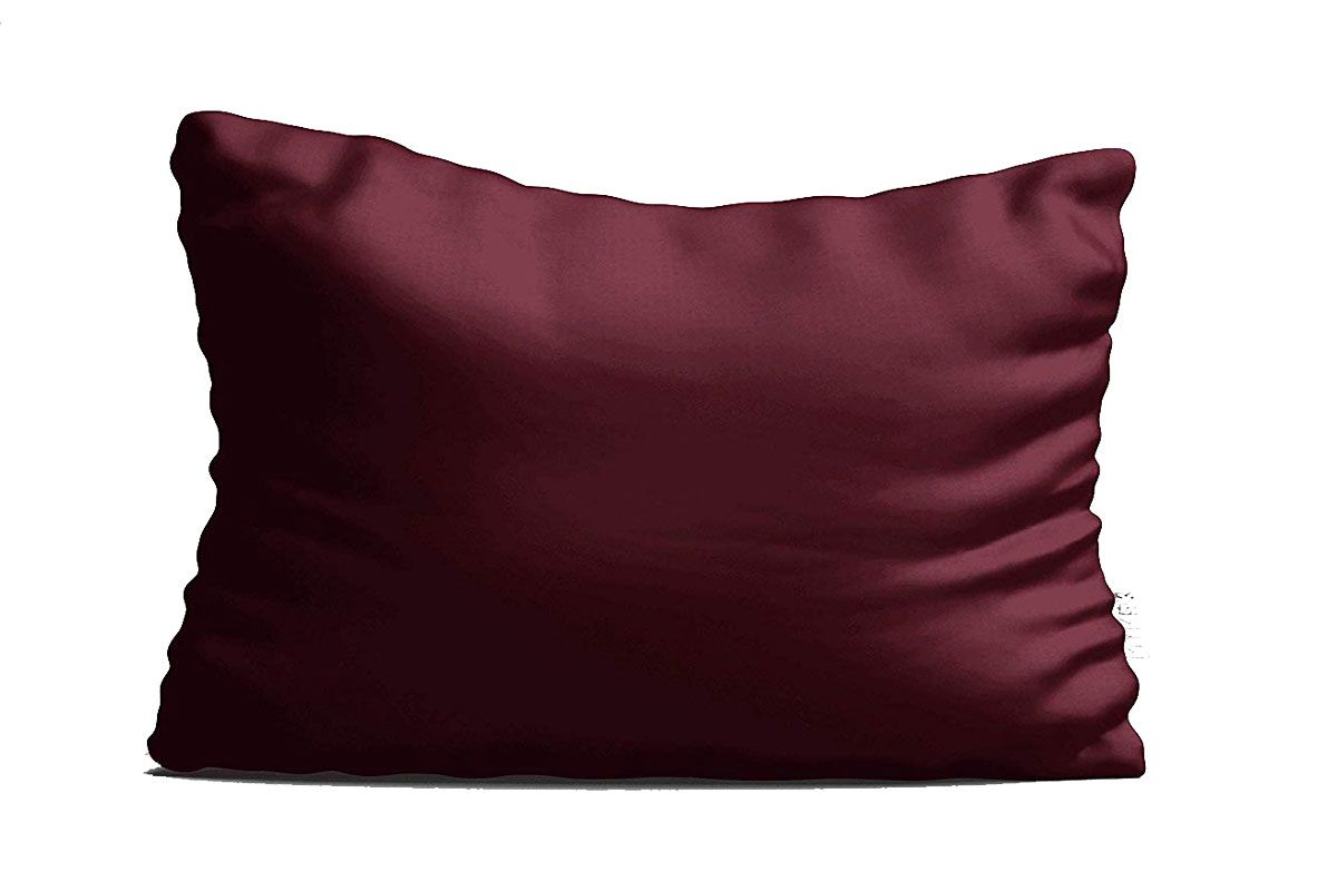 myk 100 percent natural mulberry silk pillowcase luxurious 25 momme for hair and skin care oeko tex queen size burgundy 1 pc