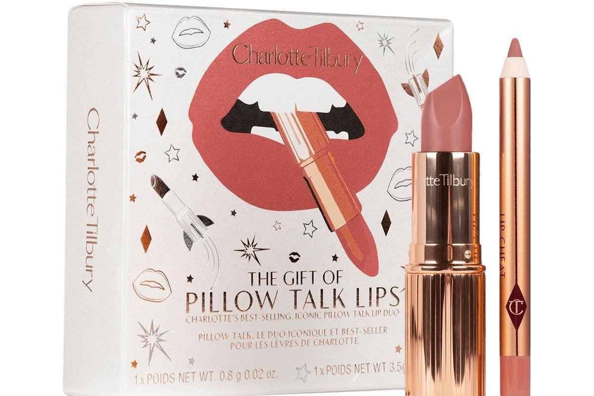 charlotte tilbury the gift of pillow talk lips