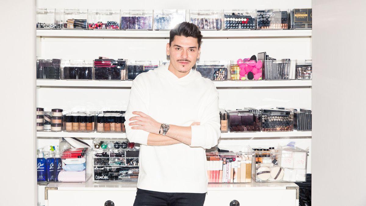 Mario Dedivanovic's Huge Beauty Closet Is Practically a Sephora