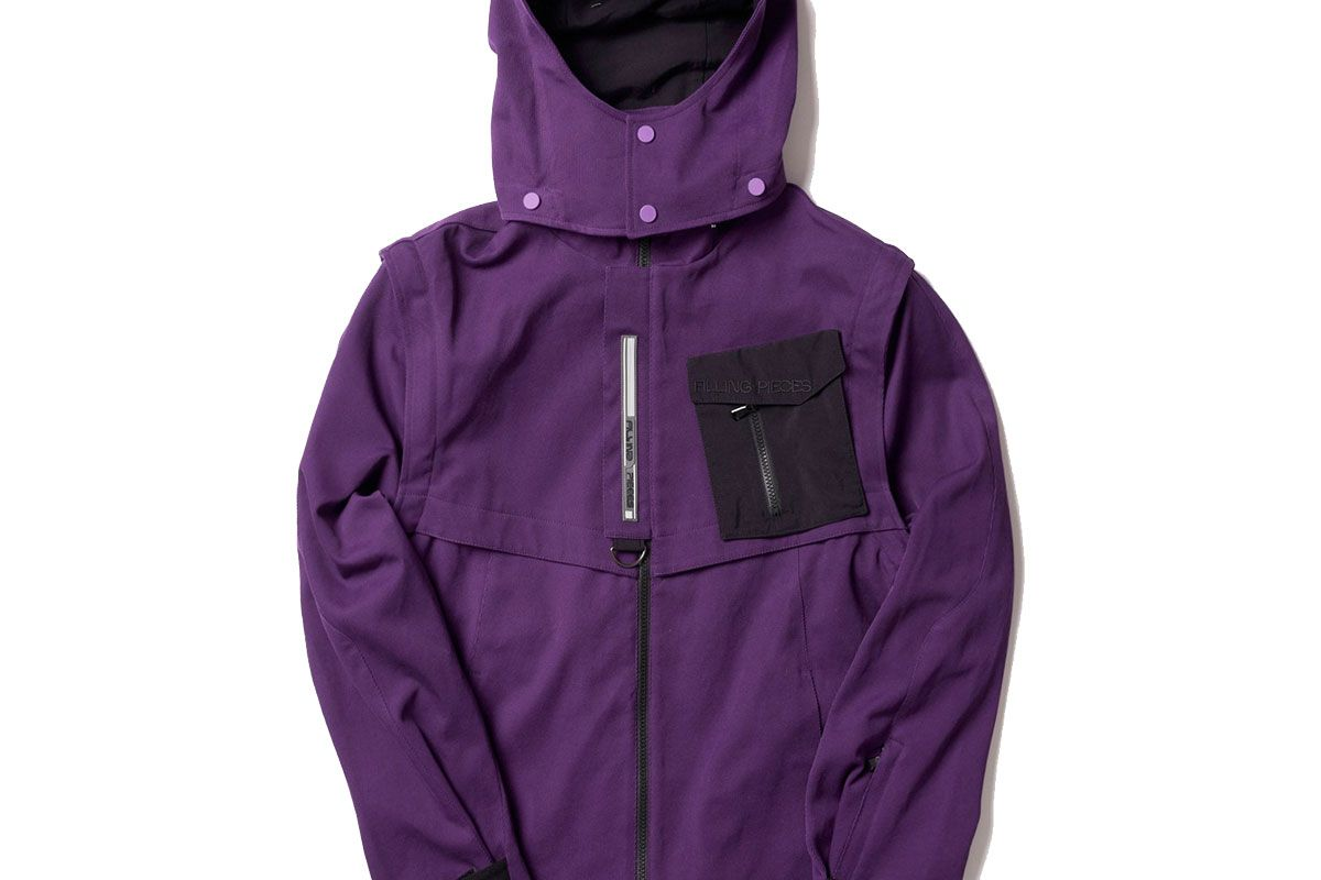 filling pieces tech jacket purple