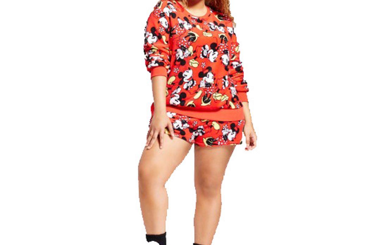 Plus Size Mickey/Minnie 3pc Pajama Set
