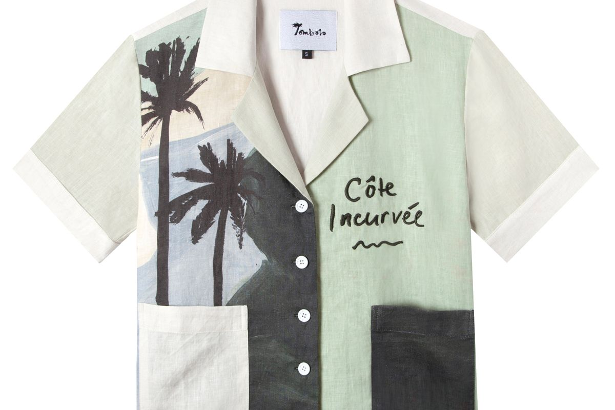 tombolo x hotel magique coast lines cabana shirt