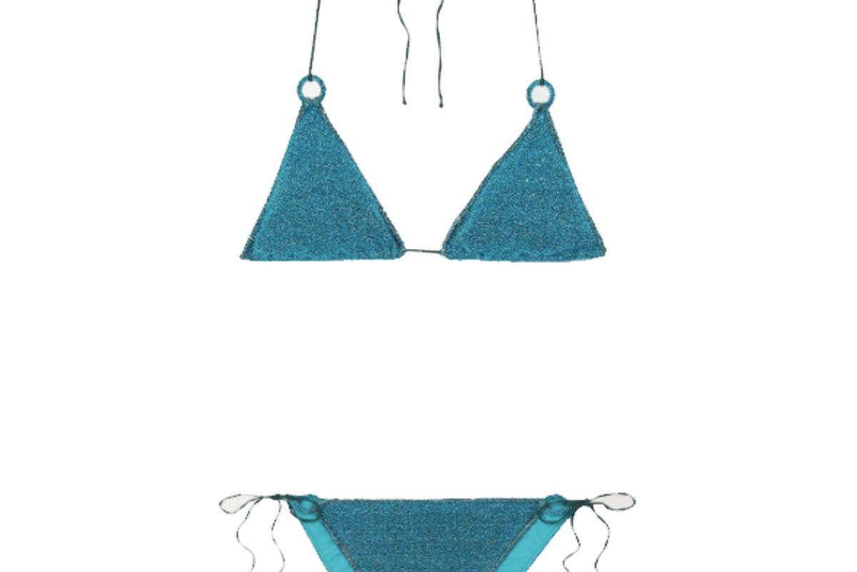 oseree stretch lurex triangle bikini