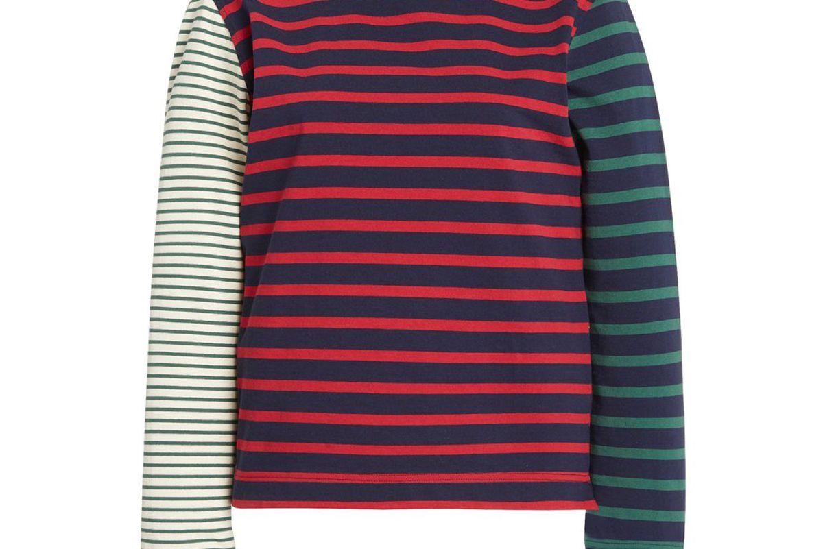 wales bonner carroll striped cotton jersey t-shirt