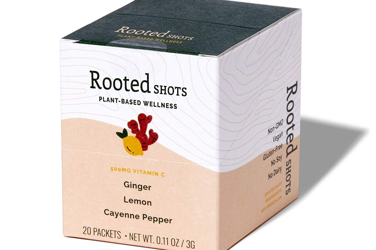 rooted shots ginger lemon cayenne pepper shot 500mg vitamin c non gmo vegan