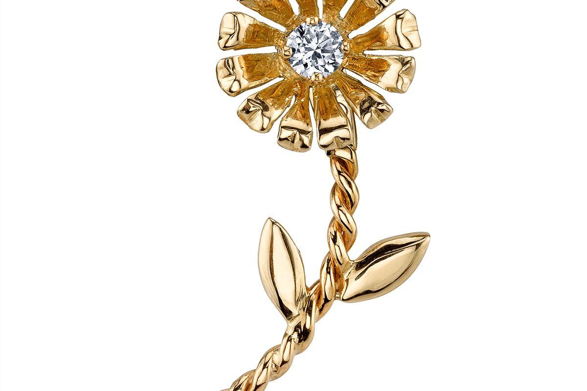 Diamond Arrow Flower Earring
